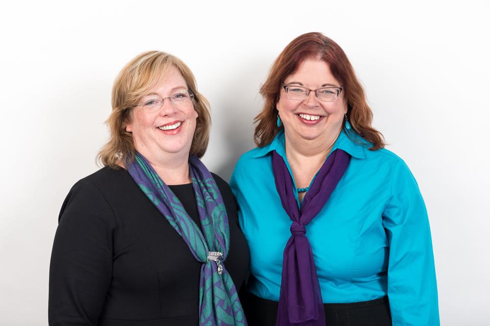 Estate planning attorney Sara Harrington with Melissa Averett